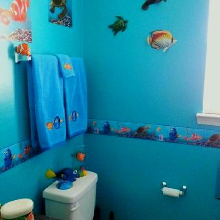finding nemo bathroom home decor pinterest kid bathrooms disney bathroom and bath. Black Bedroom Furniture Sets. Home Design Ideas