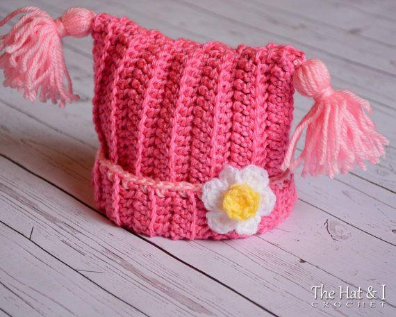 Crochet Pattern Winter Whimsy Crochet Hat Pattern Square Hat