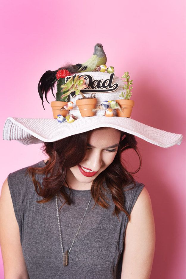 Alanna's elaborate headpiece balances her love for succulents and her love for dads.