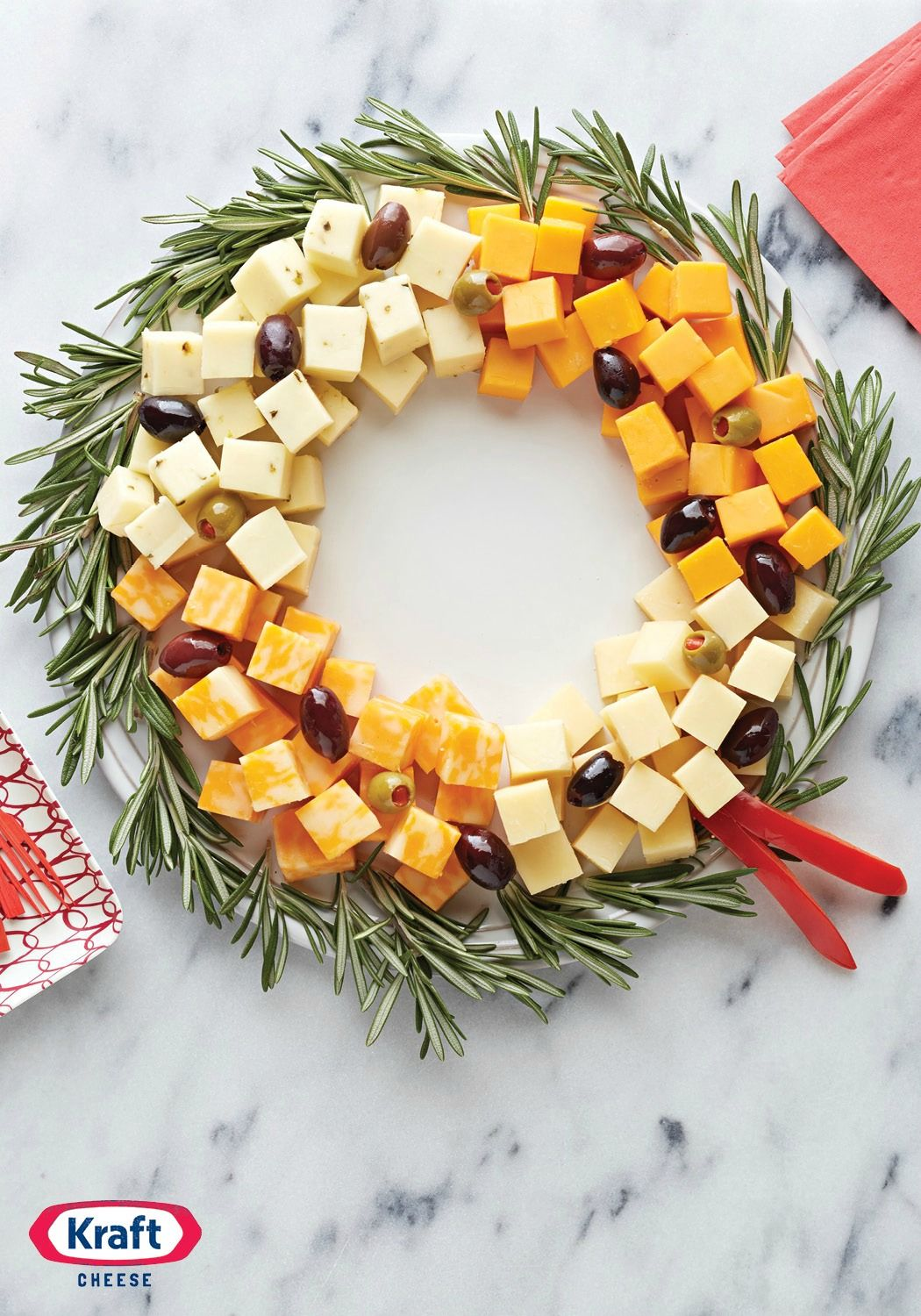 Easy Cheese Wreath — Arrange a variety of delicious, creamy cheese cubes in a circle, add olives, and youve got yourself a simple and elegant appetizer recipe. Easy Recipes For Kids To Make, Easy Recipes For Two, Easy Recipes Quick And, Easy Recipes For Beginners, Easy Recipes For Desserts, Easy Recipes With Few Ingredients, Easy Recipes On A Budget, Easy Recipes For Appetizers #appetizers #easycheese #easyrecipe