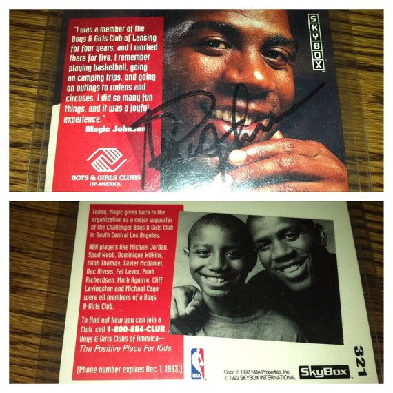 card for sale! A Magic Johnson signed 1992 Boys and Girls by ButterflyzFlowerz, $500.00