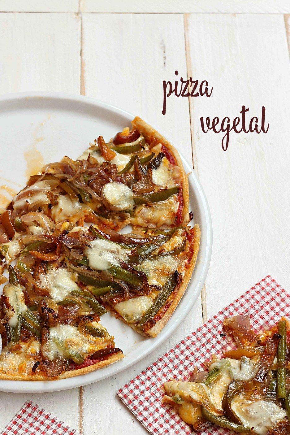 Pizza vegetal {by Paula, Con las Zarpas en la Masa}