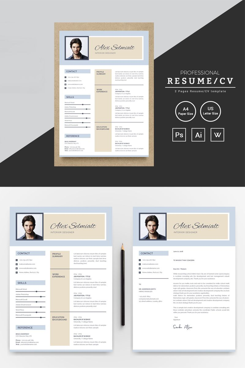 45++ Resume layout template word Format