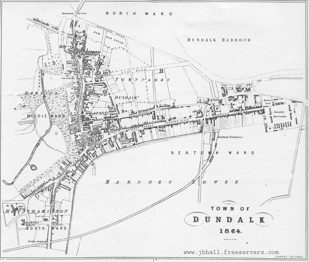 Dundalk Map Of Ireland.1864 Map Of Dundalk Ireland Pinterest Map Ireland Travel And