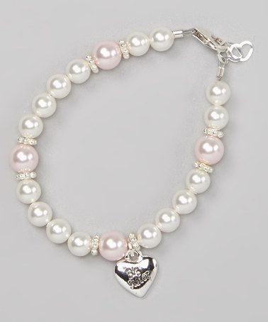 53ad527517e47 Loving this Sterling Silver & Pink Pearl 'Big Sister' Charm Bracelet ...