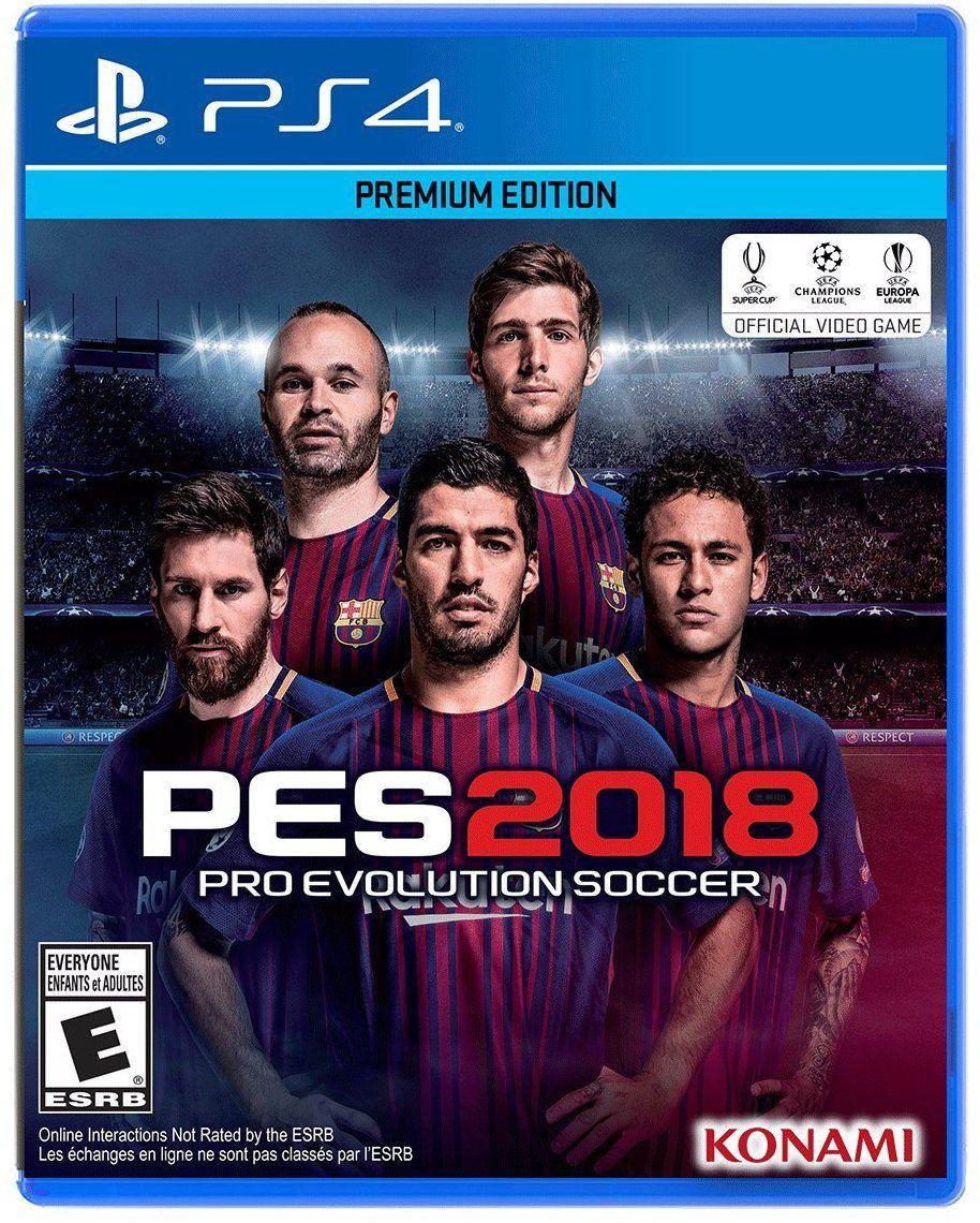 Pro Evolution Soccer 2018 Game Cover PS4 Pro evolution