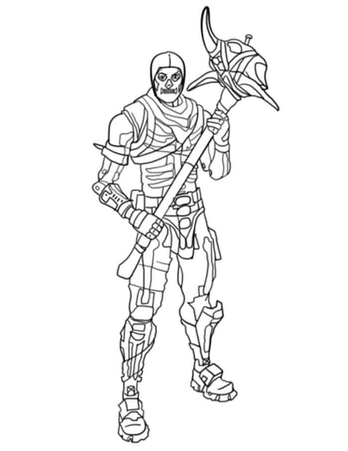 Fortnite Coloring Pages Printable   Skull coloring pages ...