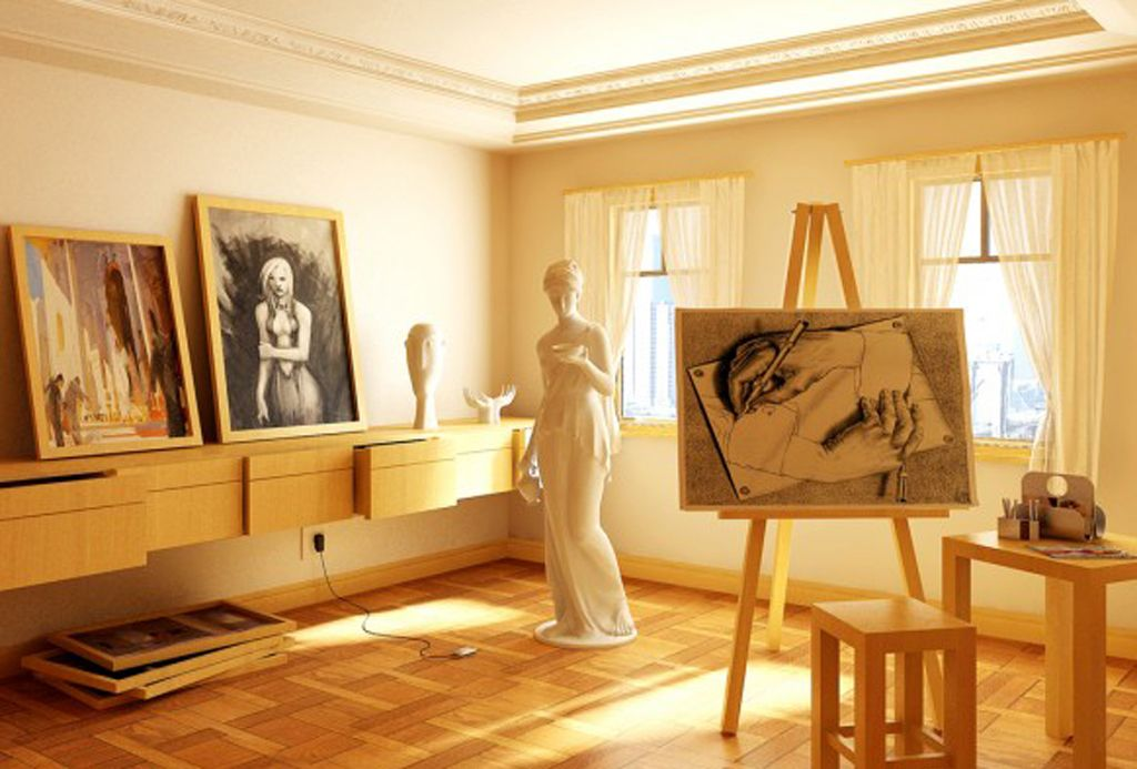 Elegant art studio interior design ideas interior design Art gallery interior design