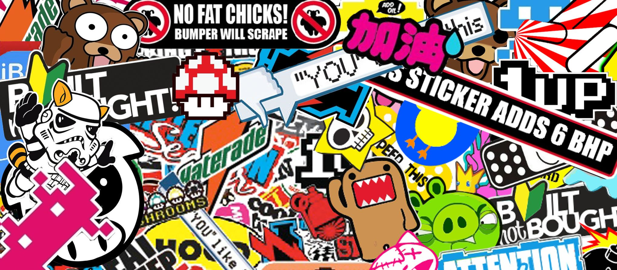 Sticker bomb sticker bomb logo sticker jdm stickers retro futurism creative art