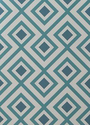 La Fiorentina wallpaper in Peacock | Walnut Wallpaper | $176 per roll