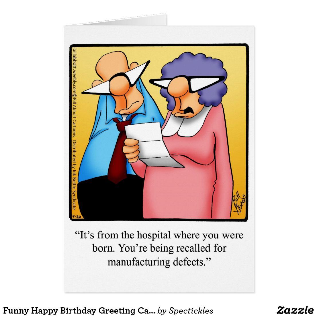 Funny Happy Birthday Greeting Card   Zazzle.com   Funny ...