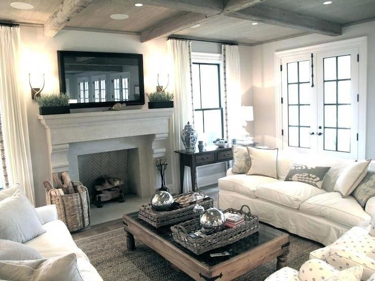Farmhouse Mantel Decor With Tv Living Room With Fireplace That Will Warm You All Winter Layout A Farm House Living Room Family Room Furniture Livingroom Layout
