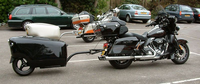 tourmax trailer on a harley davidson cvo ultra classic electra