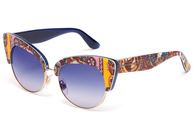 3ffb12918959 Dolce   Gabbana Eyewear Sicilian Carretto Cat Eye Sunglasses Carretto Print  Frame DG 4277
