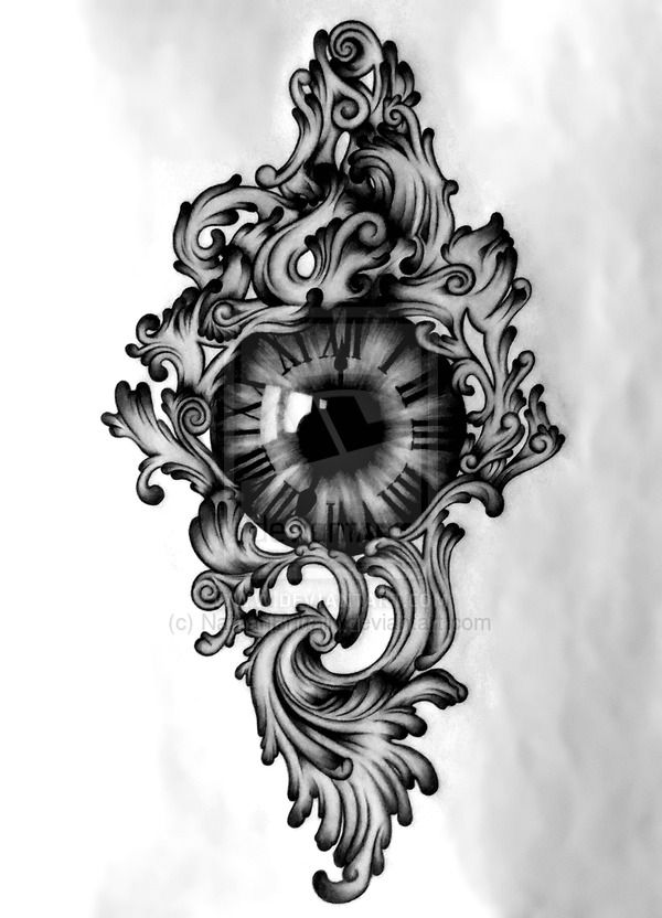 Clock Eye Tattoo Design Eye Tattoo Clock Tattoo Tattoo Photography