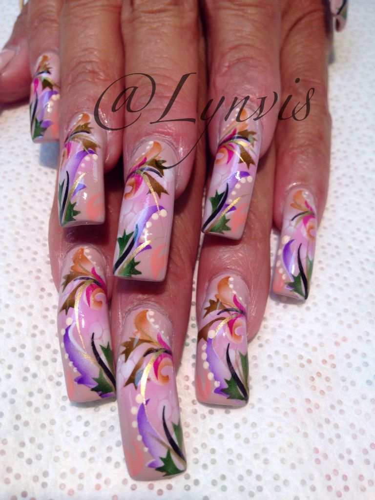 Airbrush Nail Art Nails Pinterest Nail Art Nails And