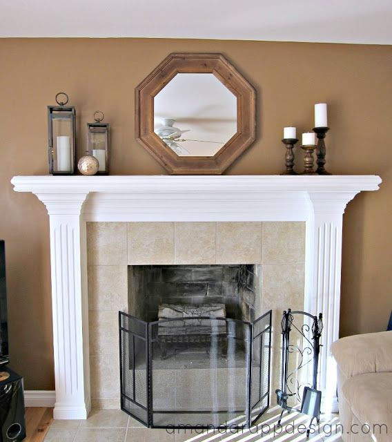 Amanda Rapp Design Mantel Decorating Simple Classic