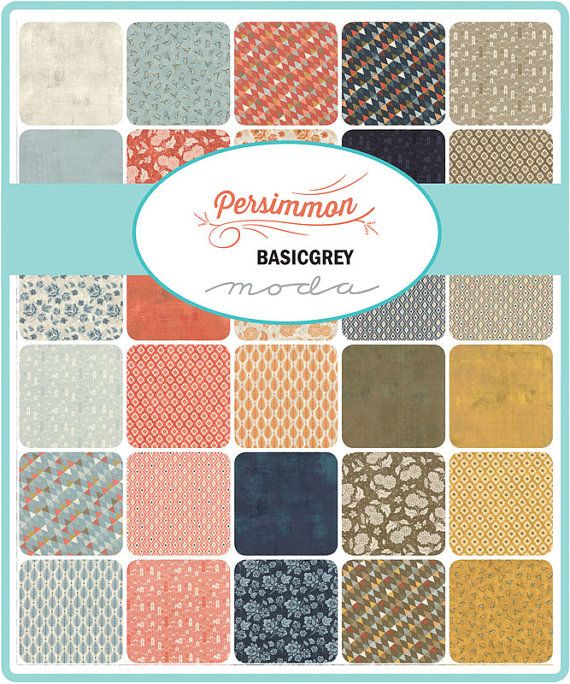 PERSIMMON - CHARM PACK by BasicGrey for Moda | Basic grey, Moda fabric quilts, Precut fabric squares