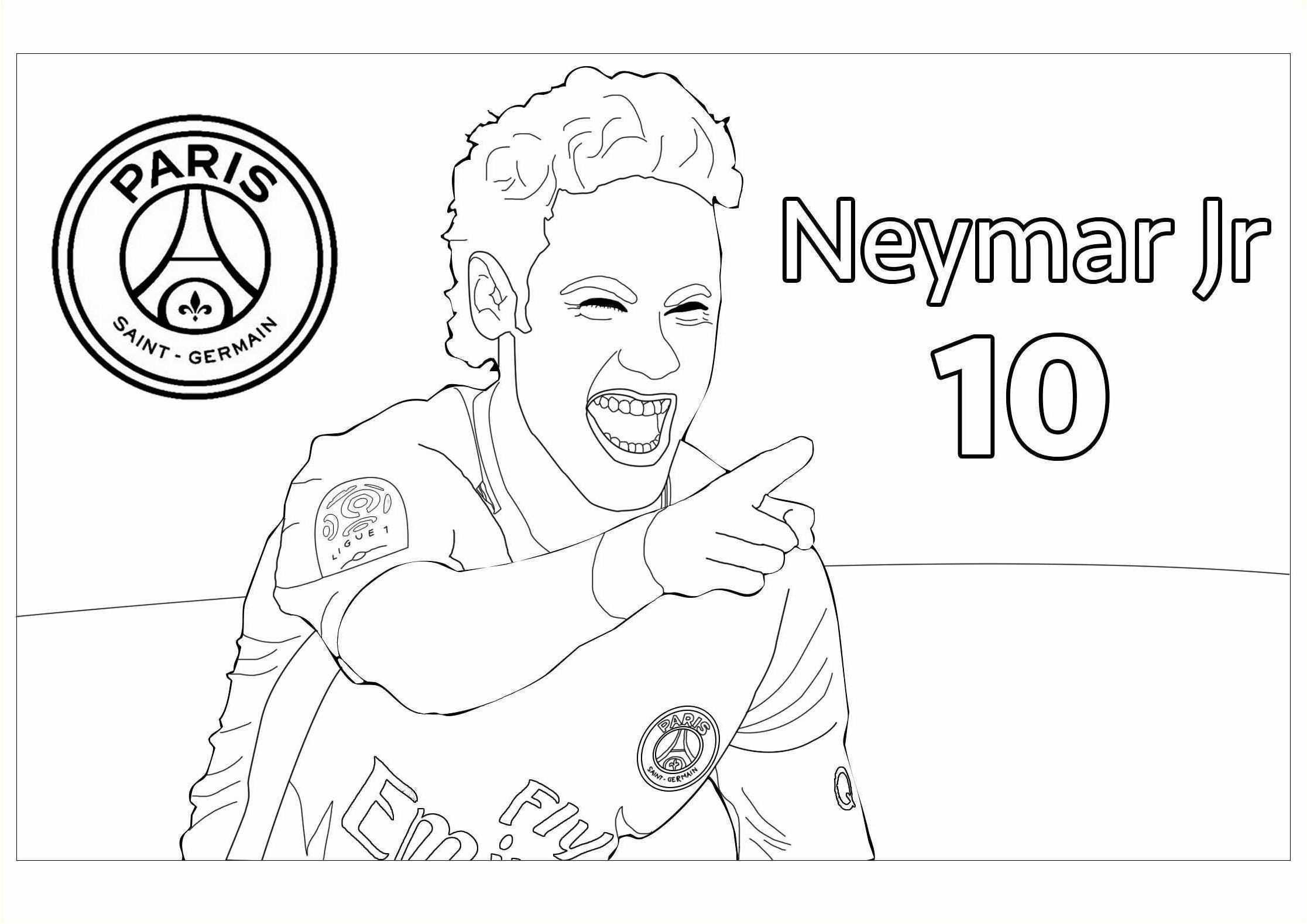 9 Parfait Coloriage Neymar Psg Gallery Neymar Neymar Psg Football Coloring Pages