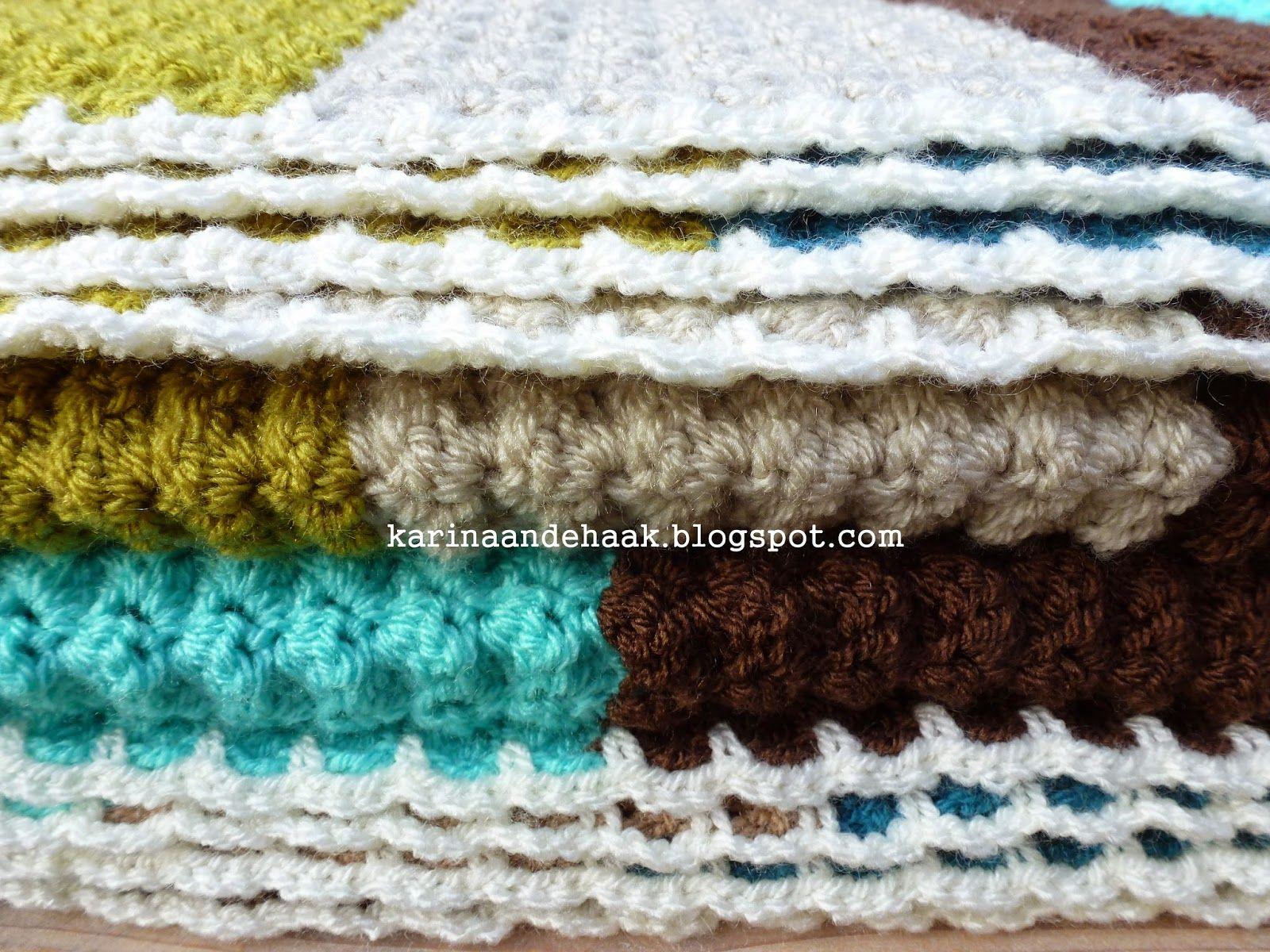 Karin Aan De Haak Dikke Gehaakte Retro Deken Met Patroon Crochet