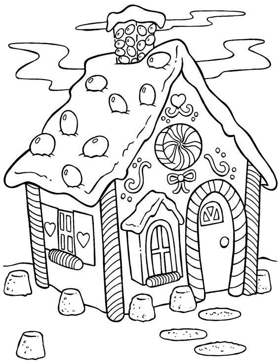 La Casita De Chocolate Colouring Pages Printable Christmas Coloring Pages Coloring Books Coloring Pages