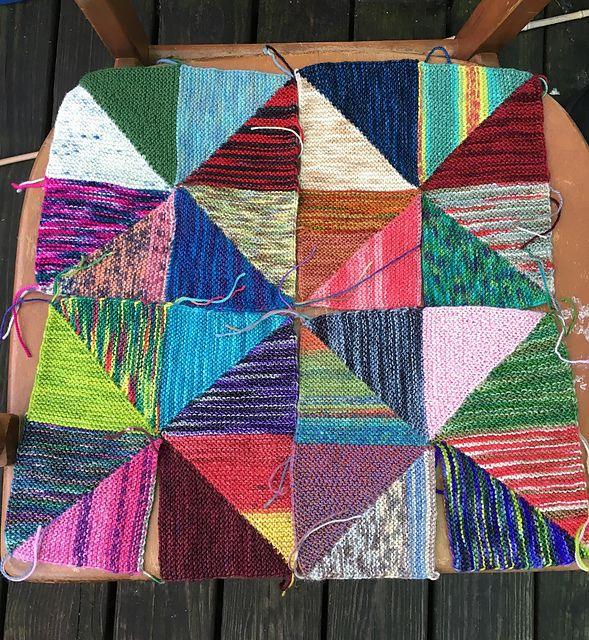 Pinwheel Scrap Blanket pattern by Knitting Expat Designs ...