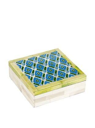 64% OFF Purva Ikat Print Bone Box, Multi