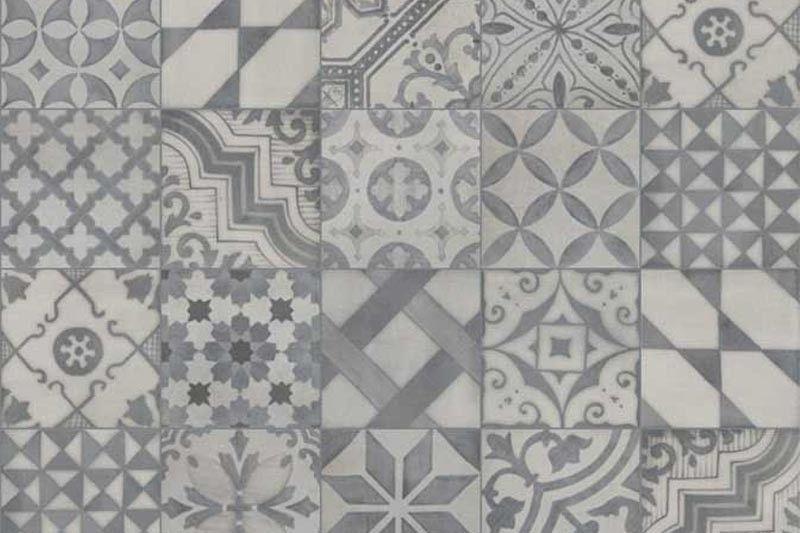 1920 Grey 25x25cm Patterned Kitchen Tiles Patterned Bathroom