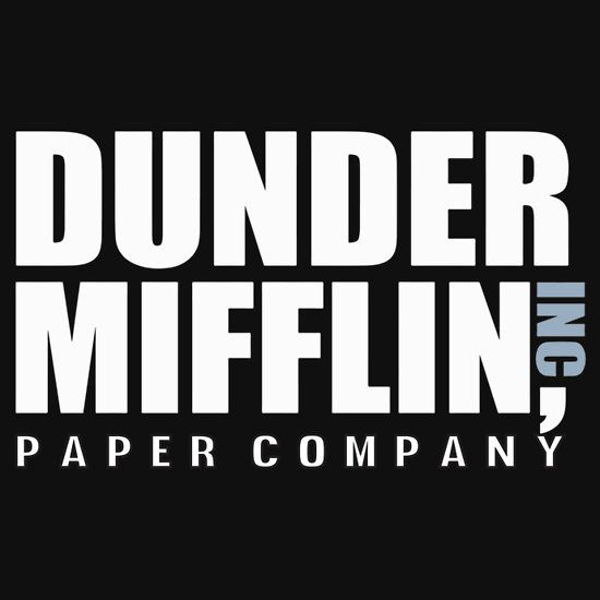ab2a8f84 Dunder Mifflin The Office Funny Typography Text Logo Shirts | Slim ...