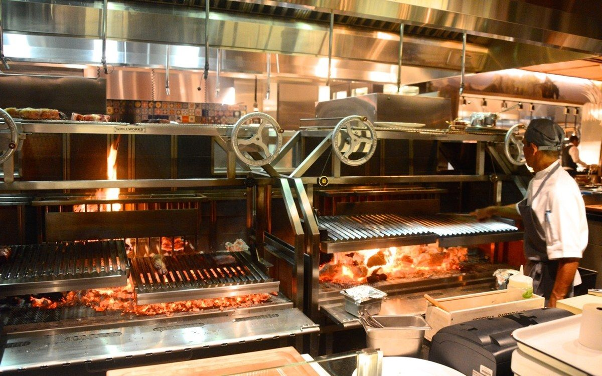 The grill at José Andrés\' Bazaar Meat in Las Vegas | Grilling and ...