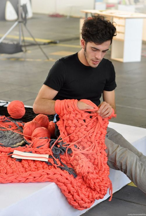 arm-knitting.....I have GOT to try this!   Once I learn, I want to make: rug, scarf, blanket, shawl?