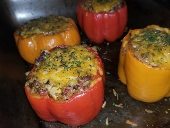 Photo of Hatch Chile & Cheesy Beef Stuffed Bell Peppers | I am New Me…