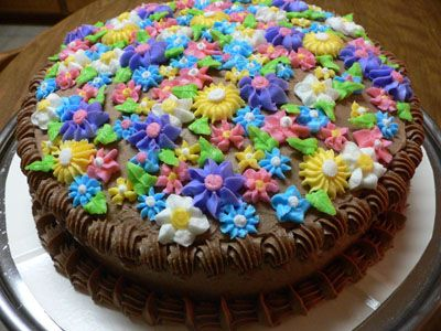 Flower meadow cake Cakes Pinterest Cake