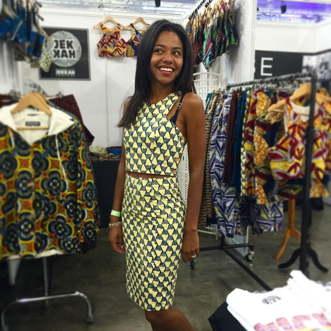 """JEKKAH™ on Instagram: """"Stunning in GUNJUR matching crop top and skirt by #JEKKAH #africanstyle #waxprint @afwlandafwn"""""""