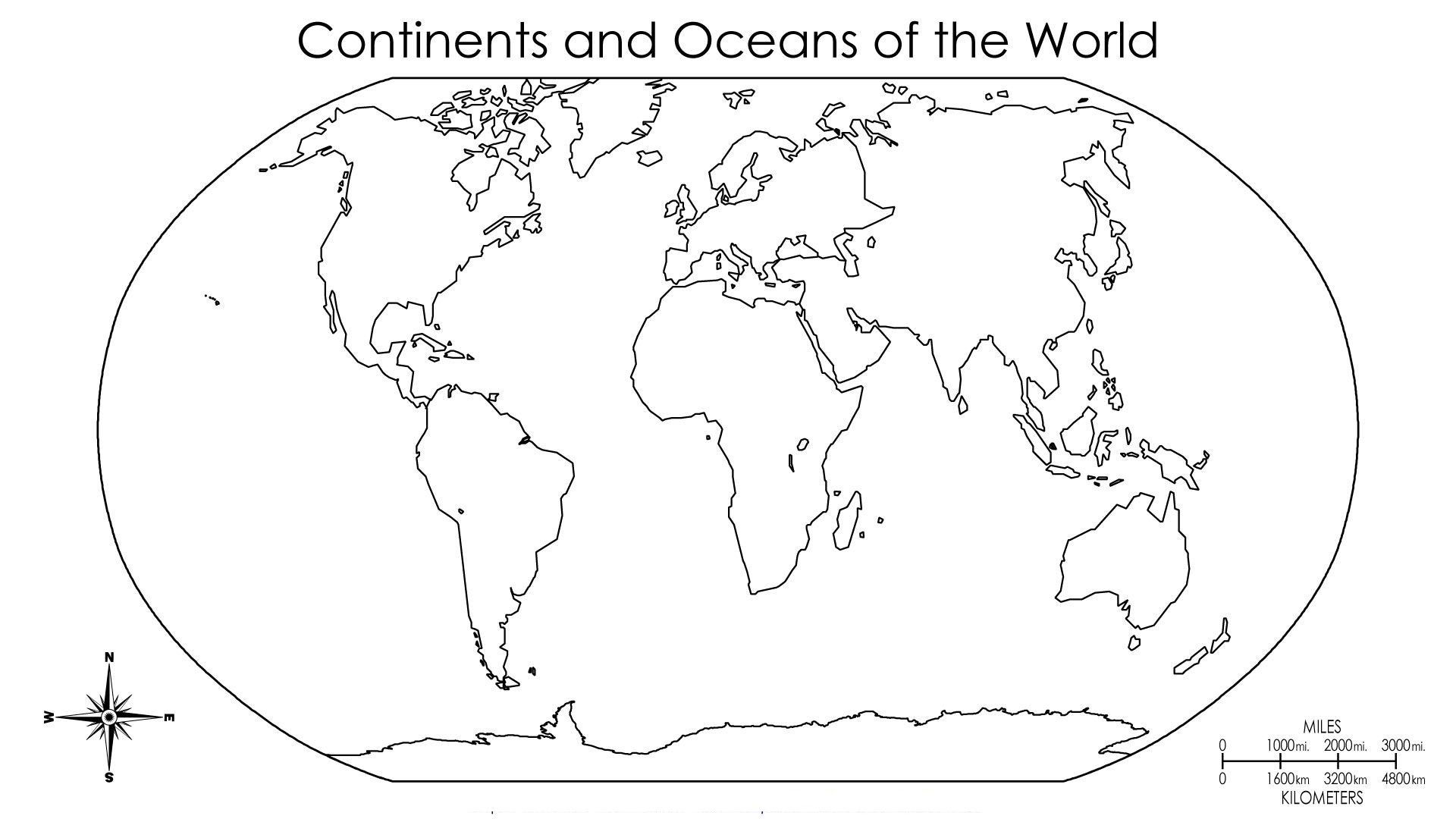 Printable Continent Shapes Printable Library