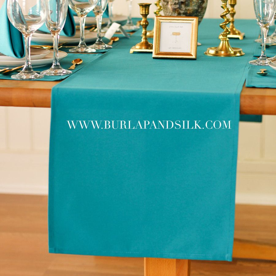 Attrayant Teal Table Runners, Teal Table Runner For Weddings And Events