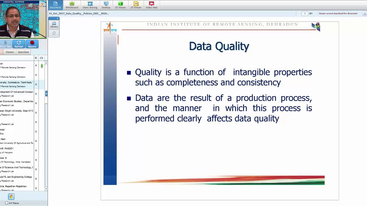 Geo Spatial Data Quality and Errors Uncertainty in GIS