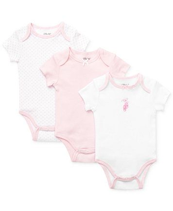 Little Me Baby Girls' 3-Pack Bodysuits