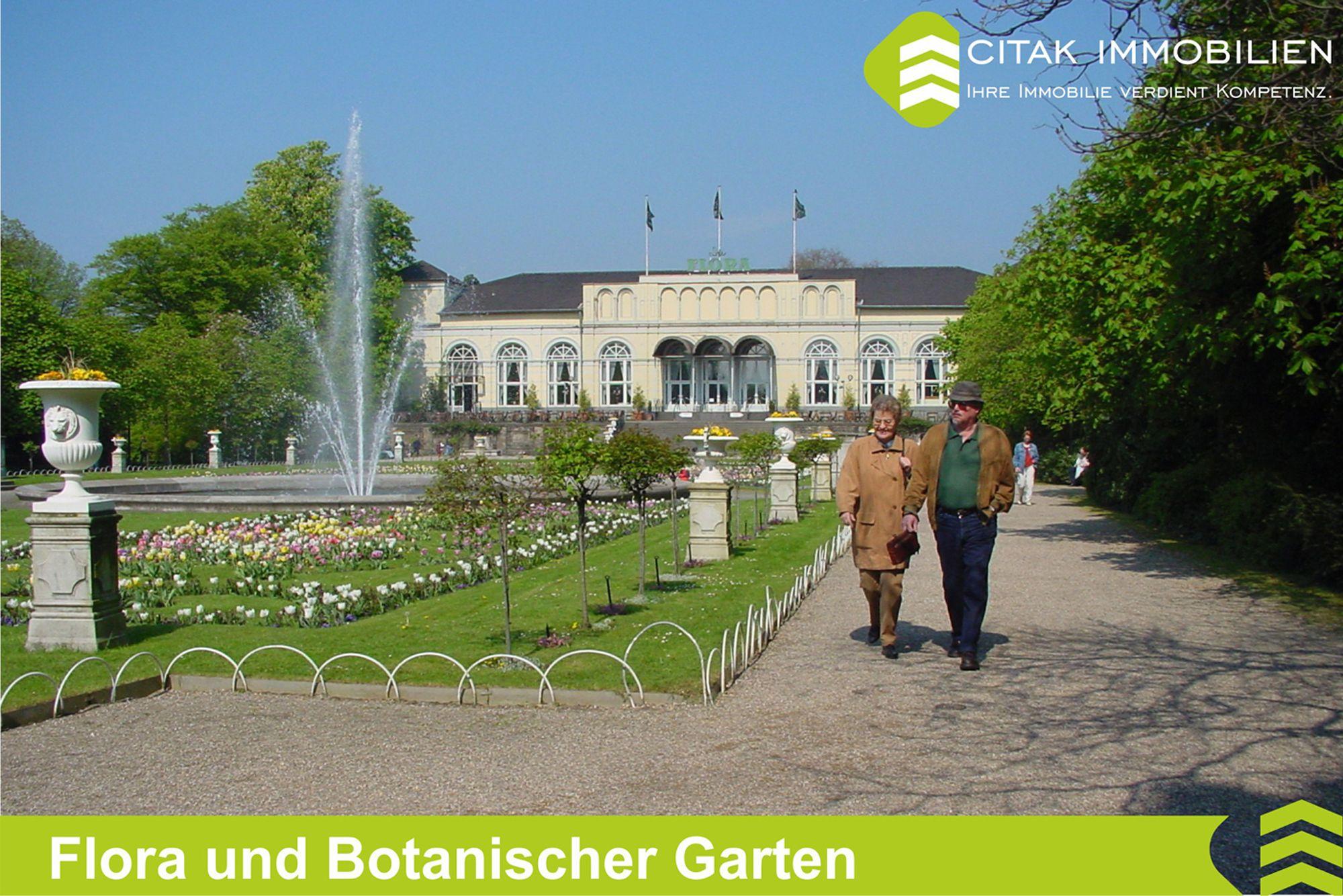 Flora Und Botanischer Garten In Koln Riehl Immobilien Immobilienmakler Botanischer Garten