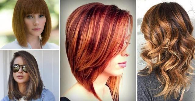 Modne Fryzury Półdługie Galeria Trendów 2019 Czerwony
