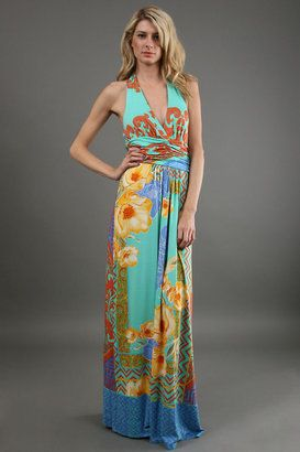 e966982c7b10a8 ShopStyle: Hale Bob Halter Maxi Dress in Blue Women | My Style ...