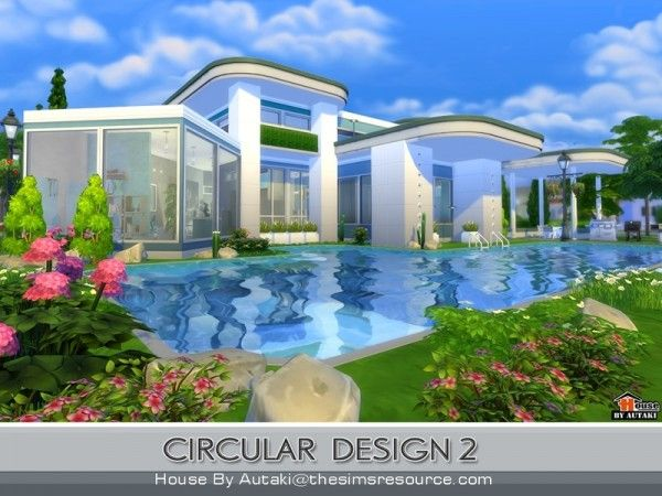 the sims resource circular modern design 2 by autaki sims 4 downloads - Sims 4 Home Design