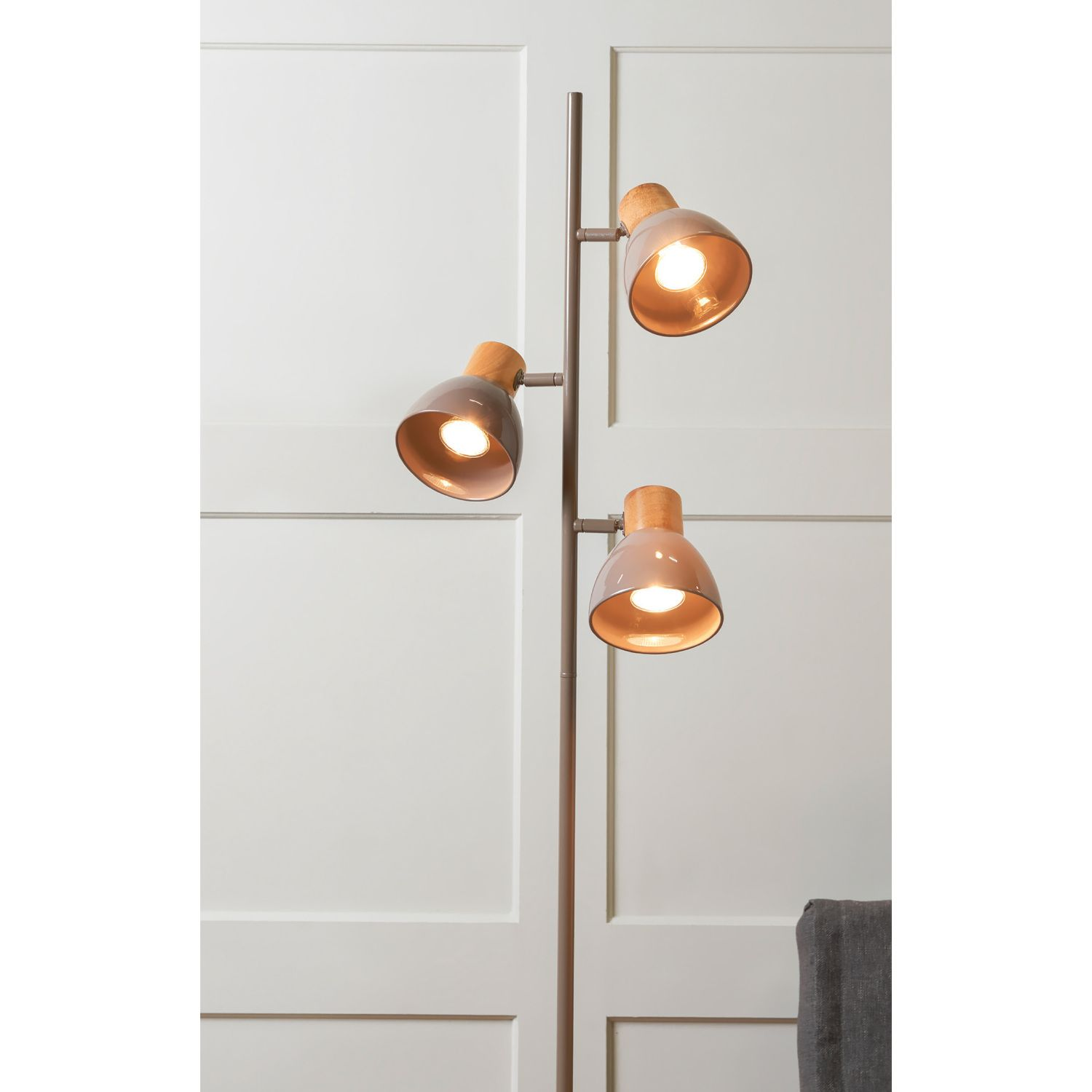 Image result for wood floor lamp three lights | Upper story ...