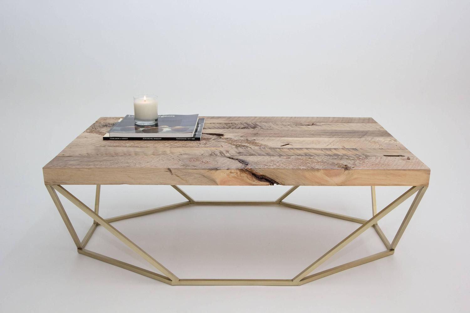 Dusk Coffee Table Large In Salvaged Wood And Brushed Brass Coffee Table Geometric Coffee Table Brass Coffee Table [ 1000 x 1500 Pixel ]