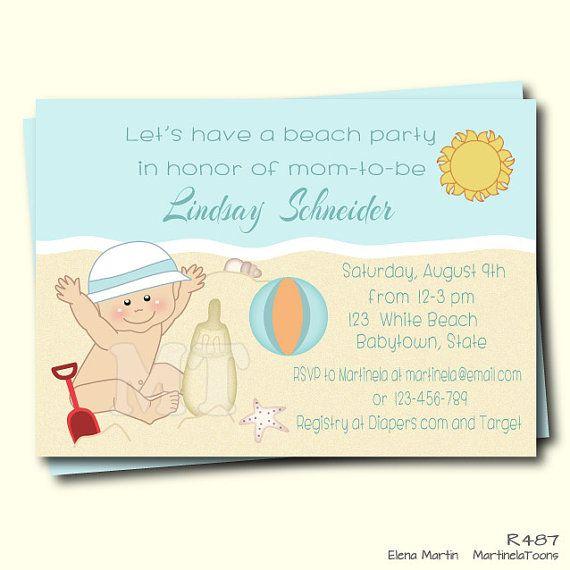 Beach baby shower invitation summer baby shower by martinelatoons beach baby shower invitation summer baby shower by martinelatoons filmwisefo
