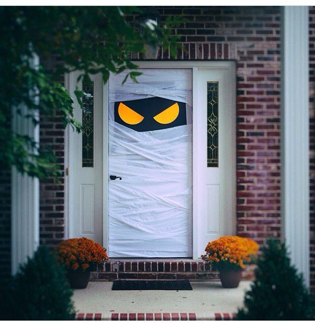 Fun door! Halloween 2017 Pinterest Doors, Halloween ideas and - halloween garage ideas
