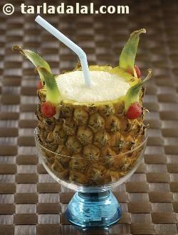 Virgin pina colada with coconut milk