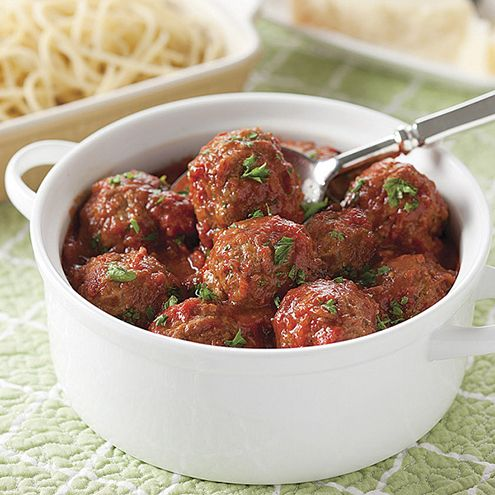 Nothing is as simple and satisfying as a dinner of spaghetti and meatballs.  These meatballs, pure Italian, are the gold standard.  Moist and tender, their meaty flavor is complemented with just the right amount of seasonings and served in an authentic marinara.  Add pasta, or even just crusty bread, for a trip to Little Italy.  Pure comfort food.  Two 24 oz. containers, approximately 20 meatballs.