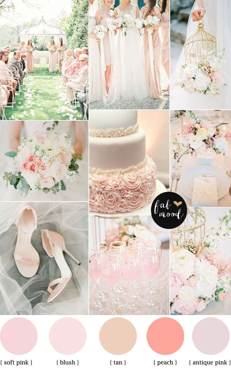 Blush pink garden wedding colour palette | Spring wedding colors ...