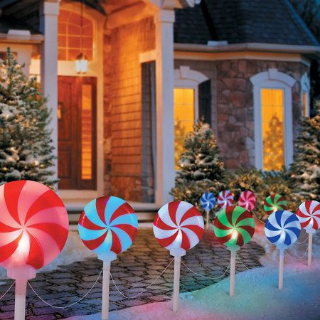 peppermint christmas pathway lights christmas pathway lights christmas themes christmas yard decorations christmas